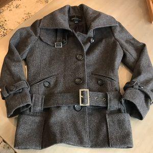 Women's Grey Wool Coat